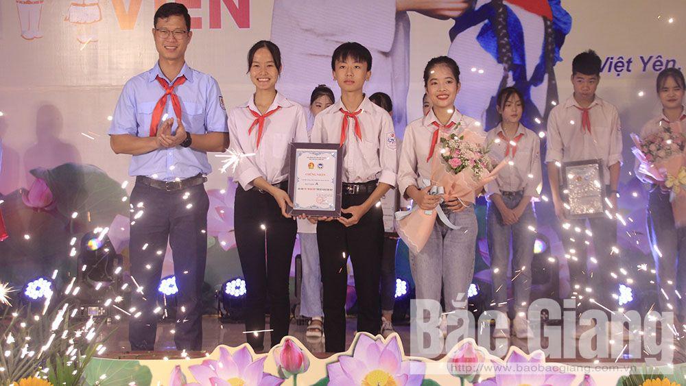 Đội Trường THCS Ninh Sơn (Việt Yên) giành giải A sân chơi 'Tài - trí đội viên'